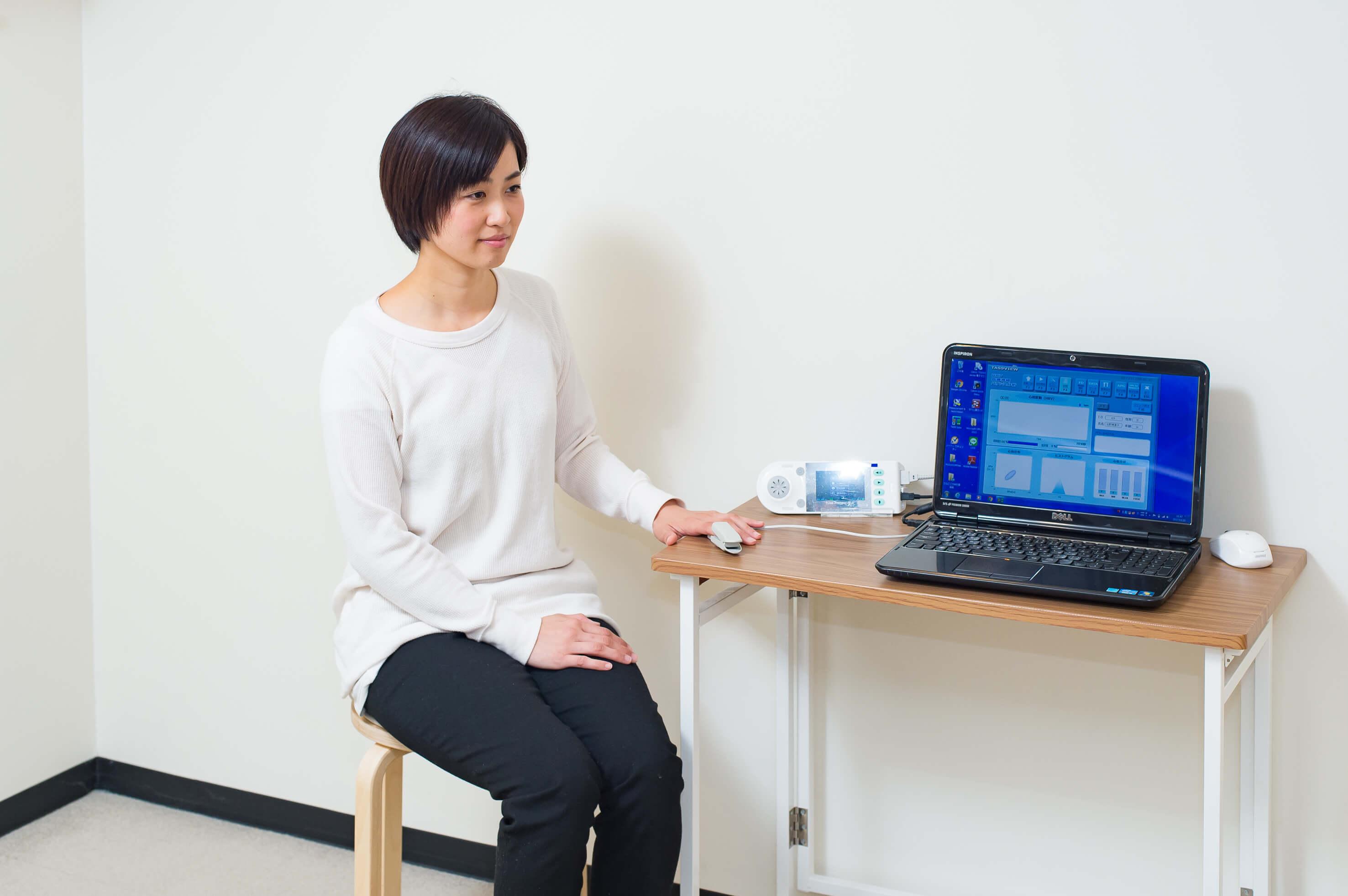 東大阪市 たなごころ鍼灸整骨院自律神経バランス分析機「TAS9 VIEW」